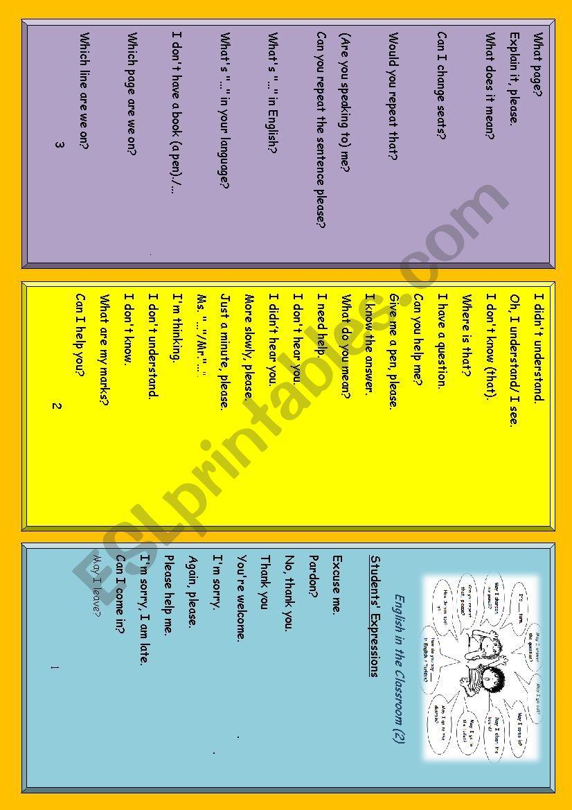 Classroom Expressions( students)