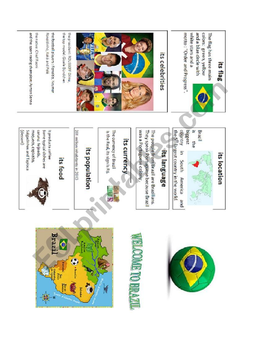 Welcome to Brazil part 1 (brochure +questions)