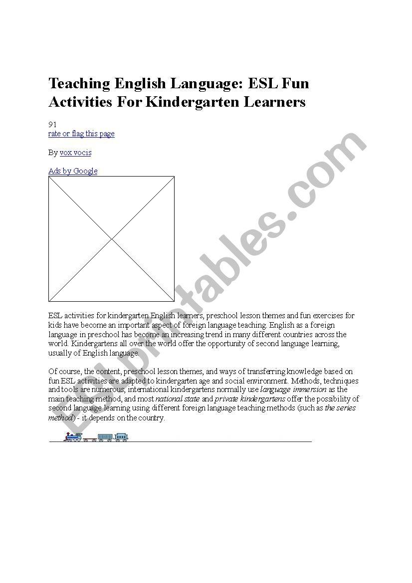 teaching-english-language worksheet