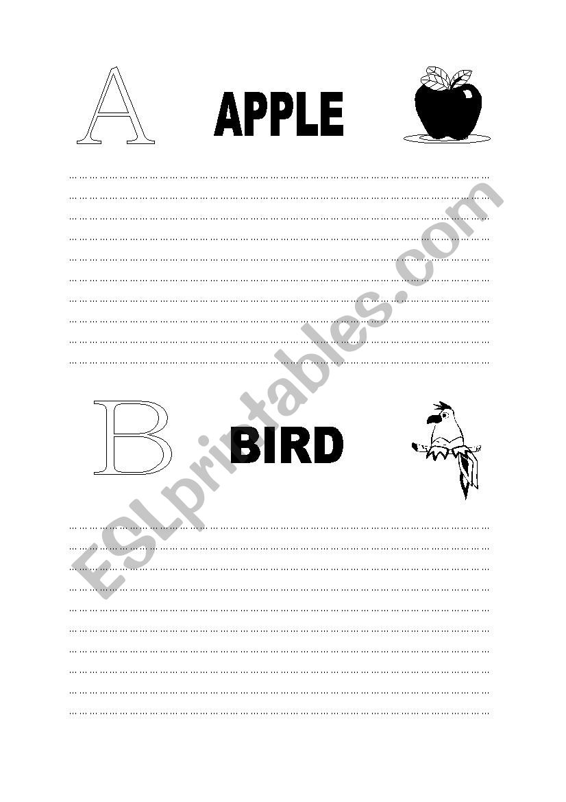 A and B worksheet