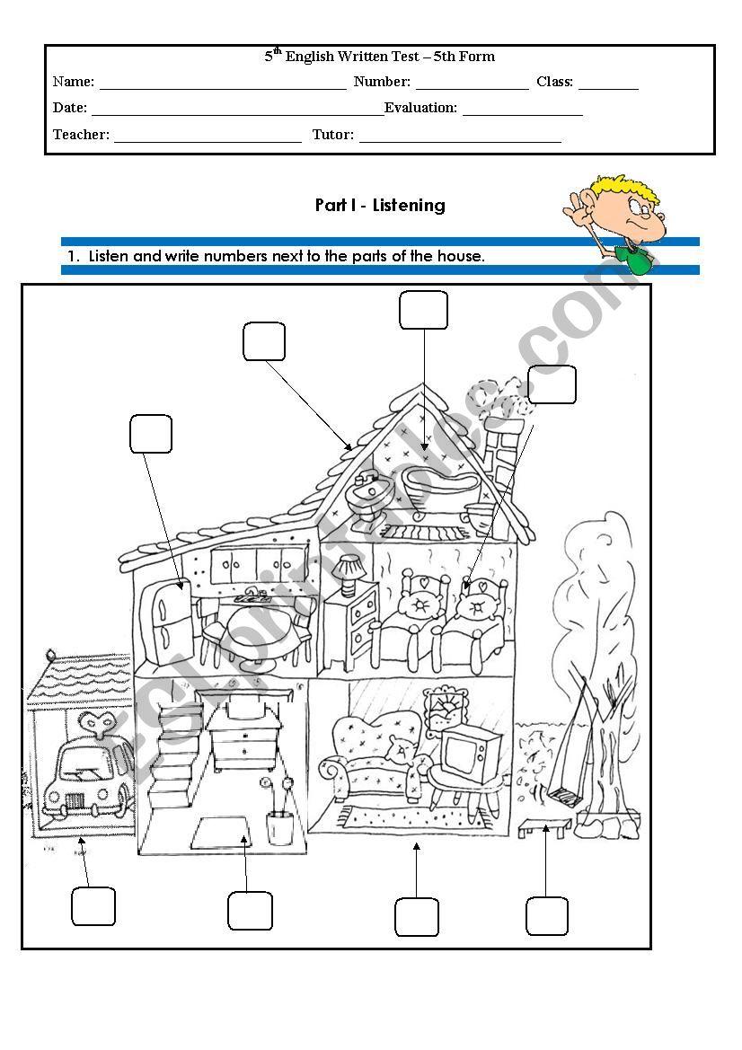 Test 5th Grade Part 1 worksheet