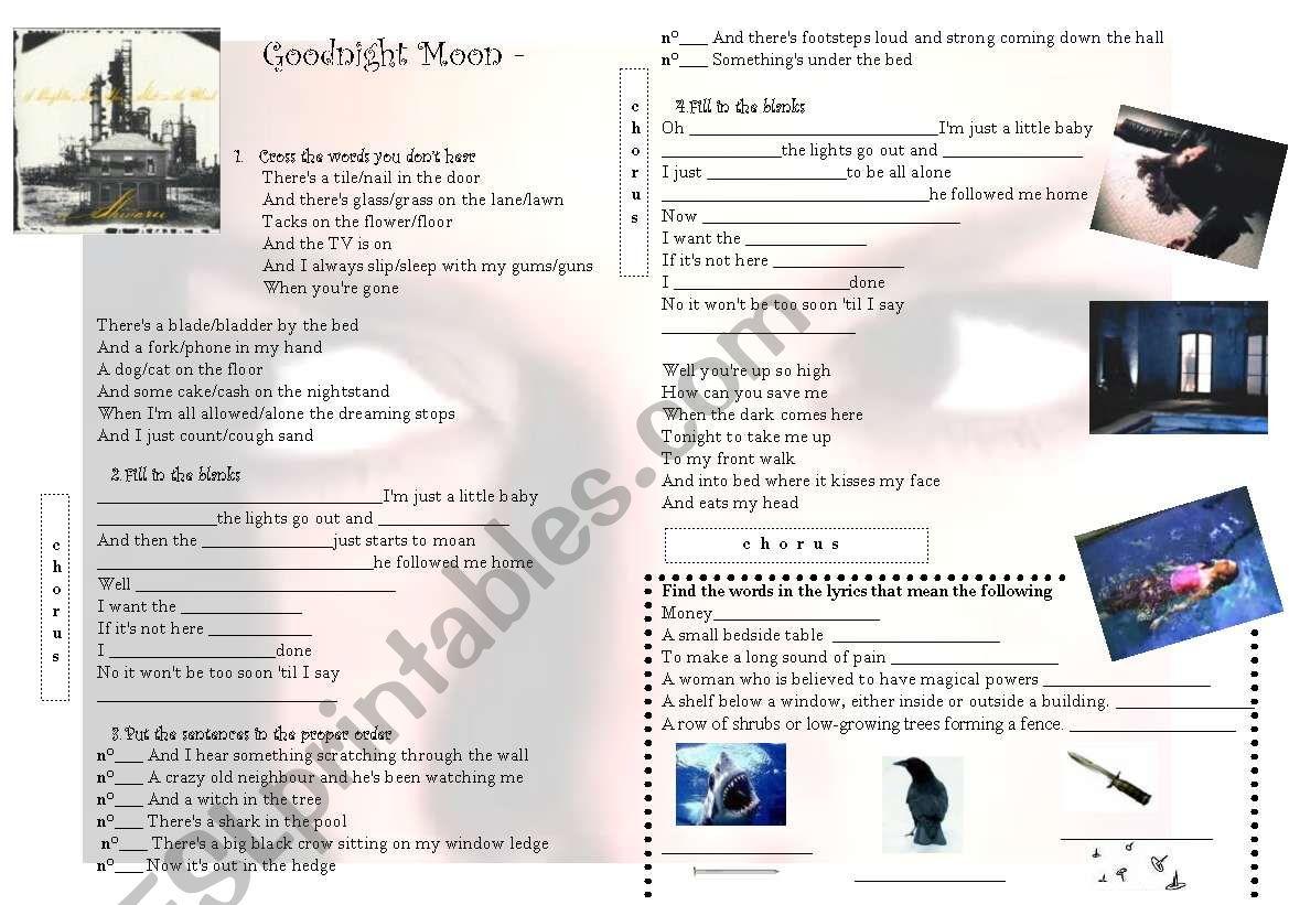 Goodnight Moon - Shivaree worksheet