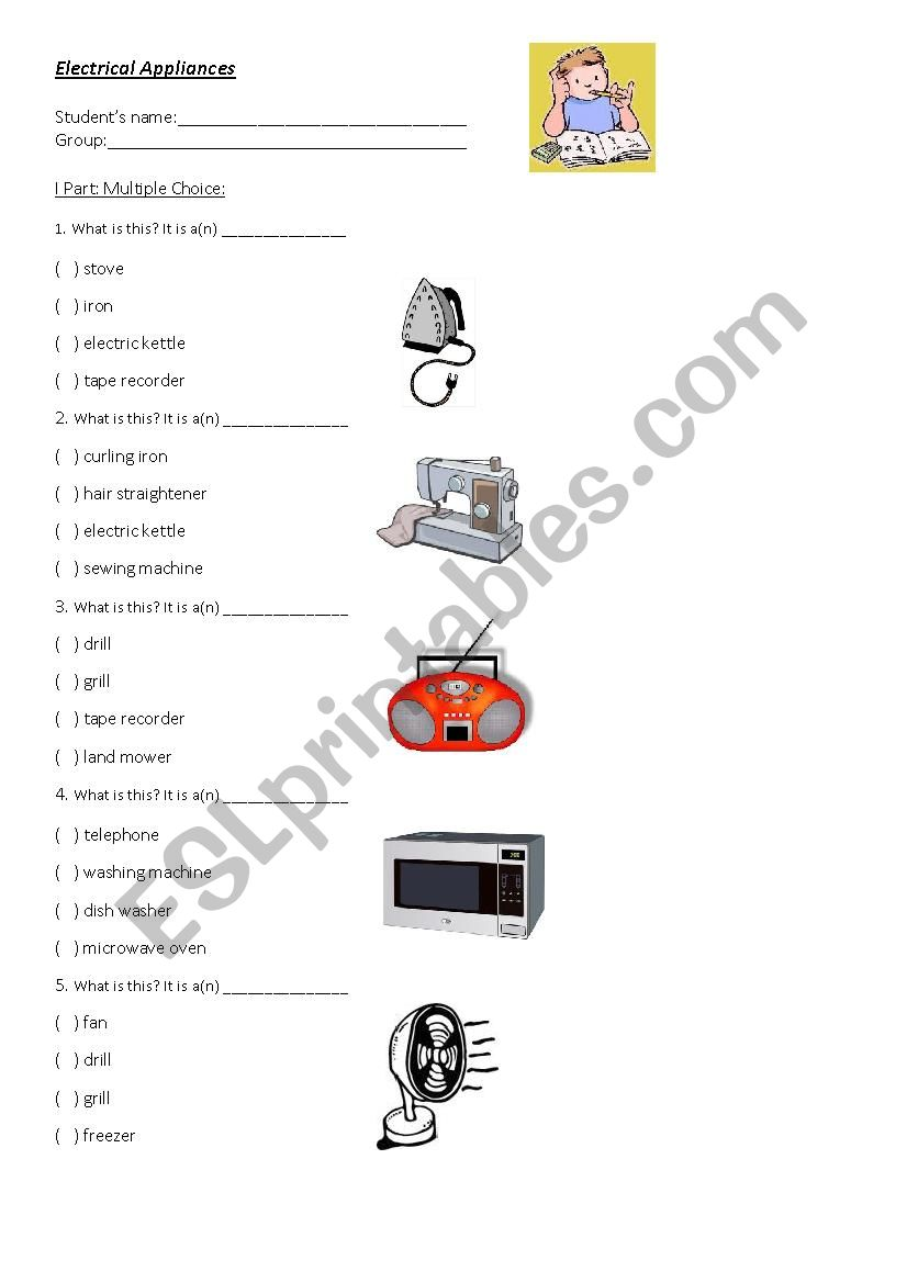 Practice about Electrical appliances