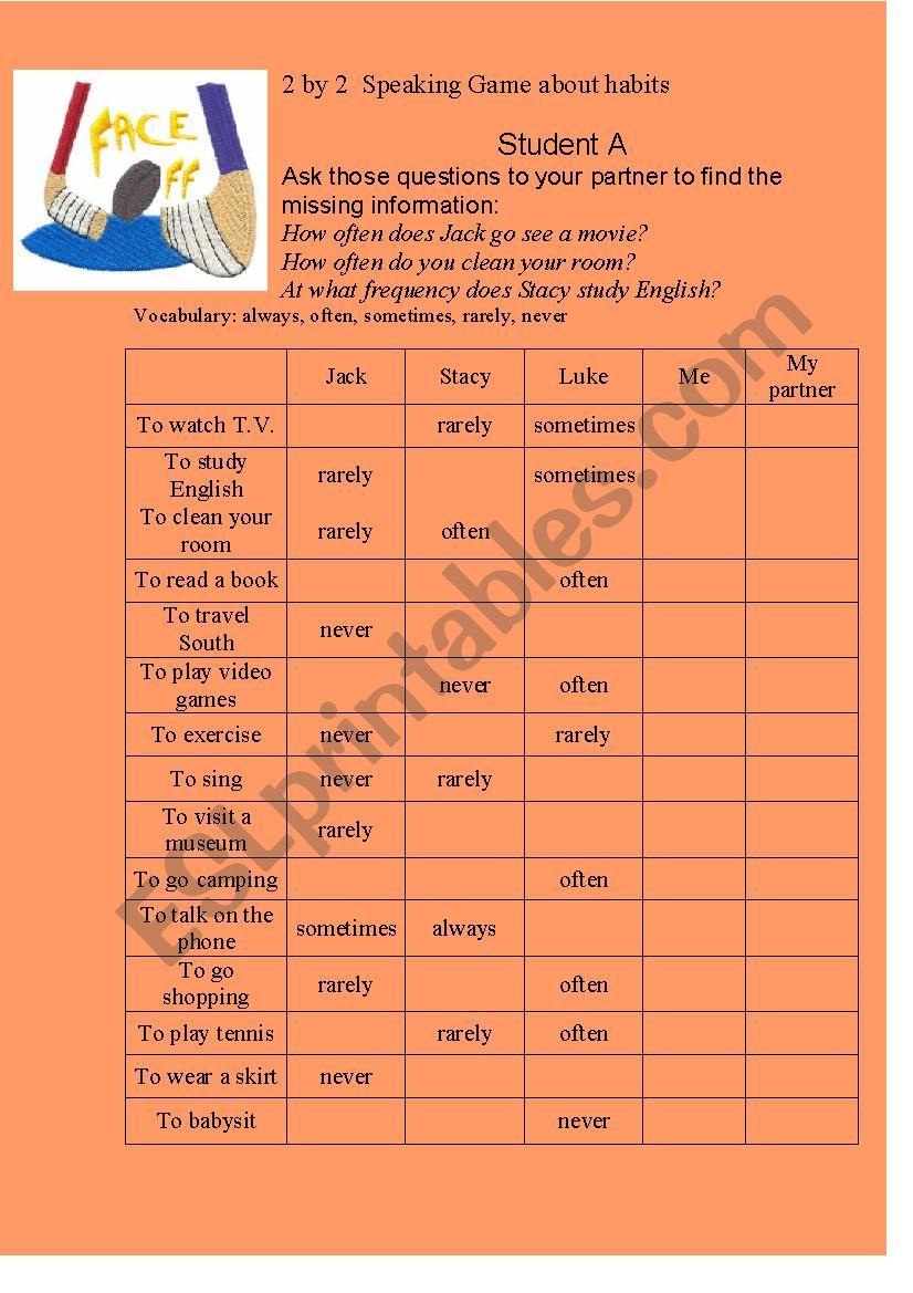 How often? worksheet