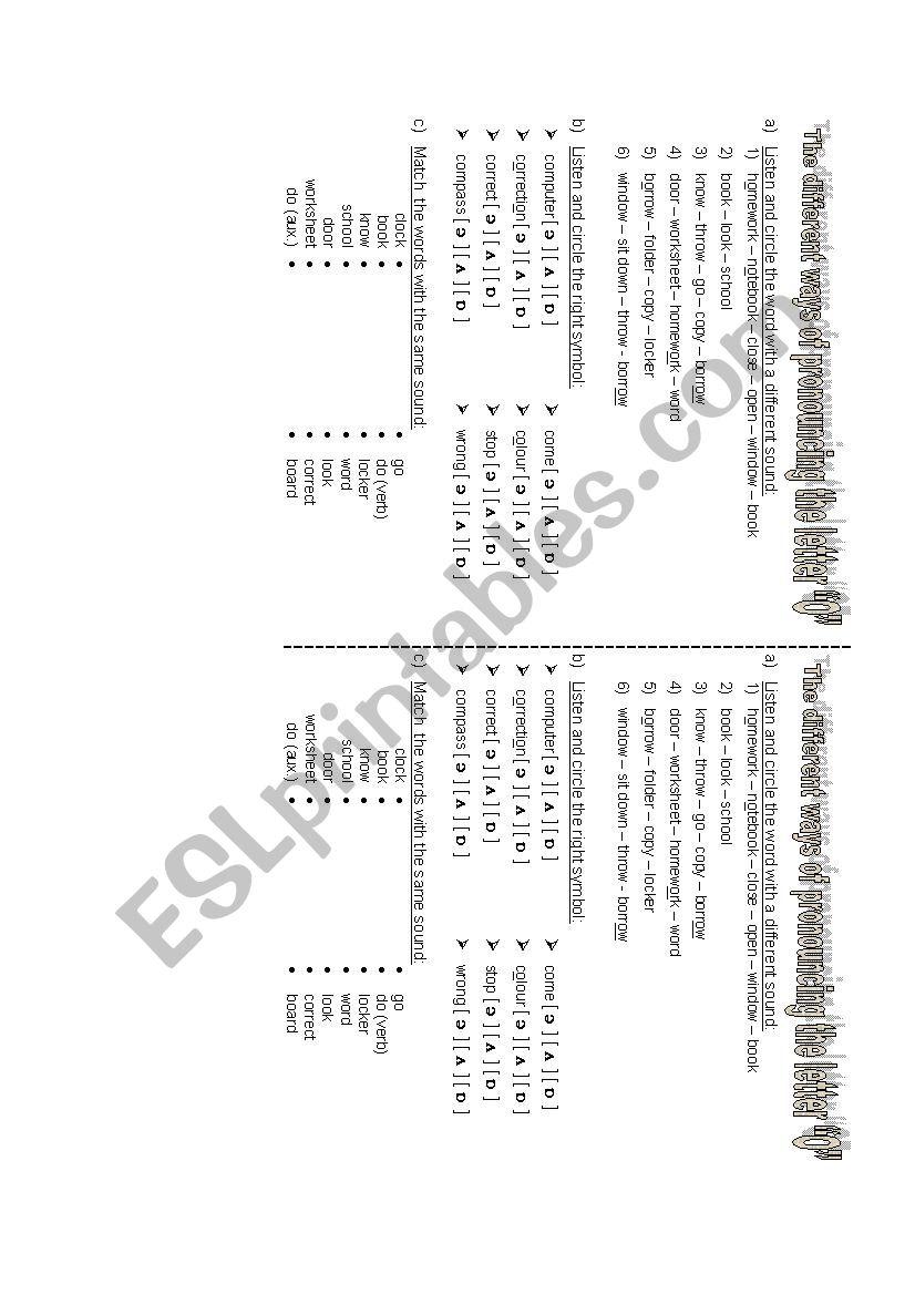 classroom english - phonetics worksheet