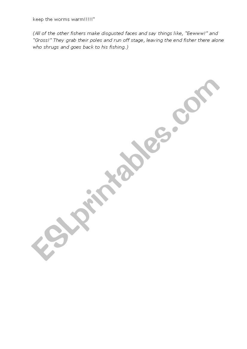Easy Peasy Acting (Simple and Funny Skits) - ESL worksheet