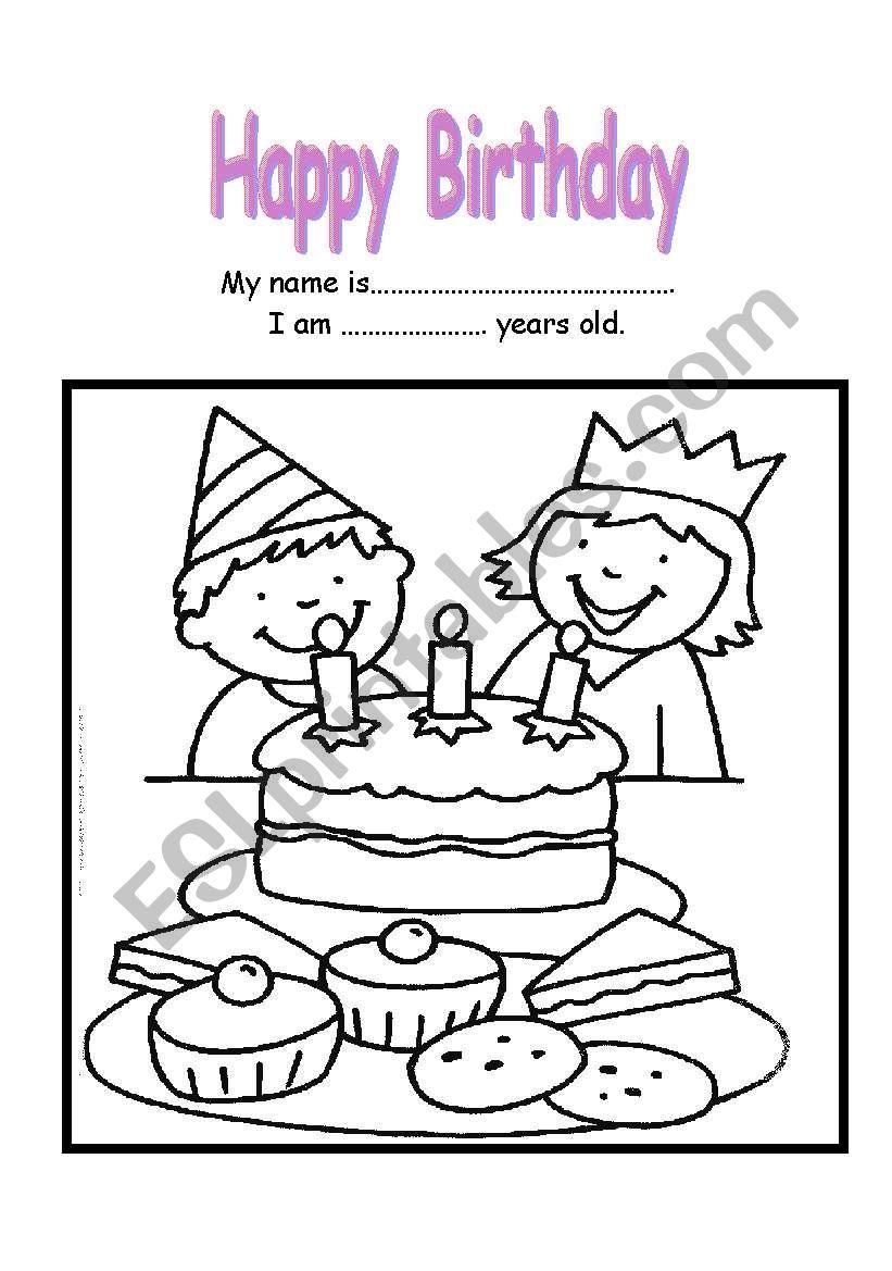 Birthday worksheet