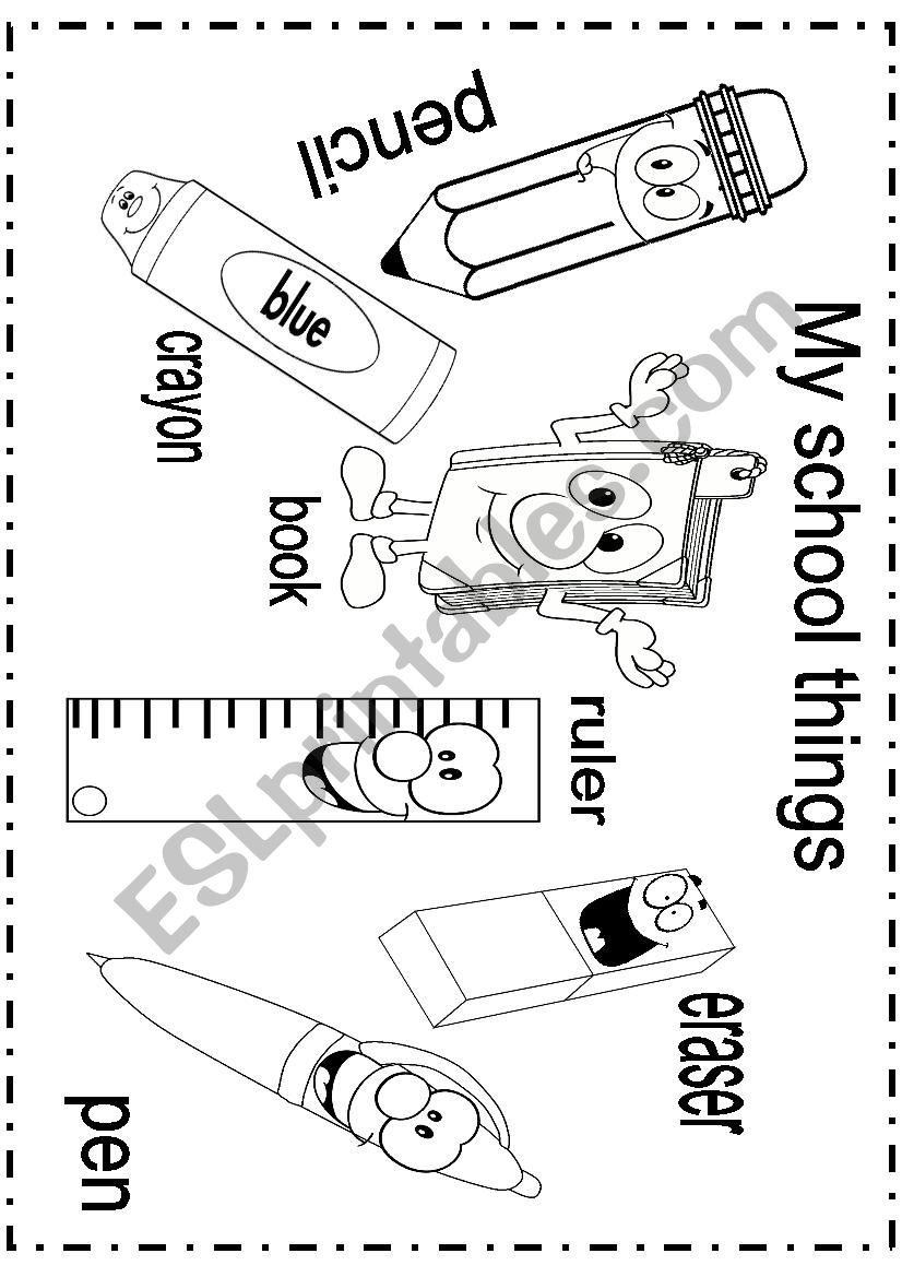 my school things - ESL worksheet by sindy 1