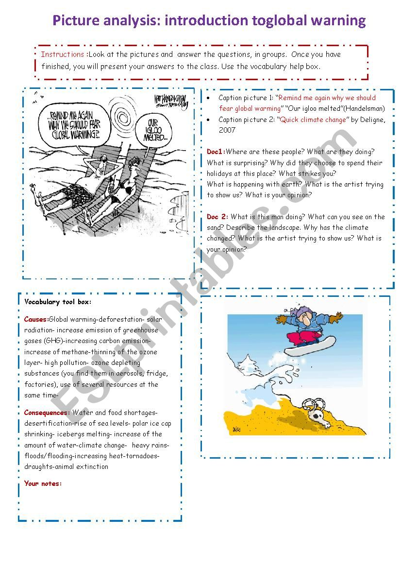 Global Warming An Introduction Esl Worksheet By Cathiej1