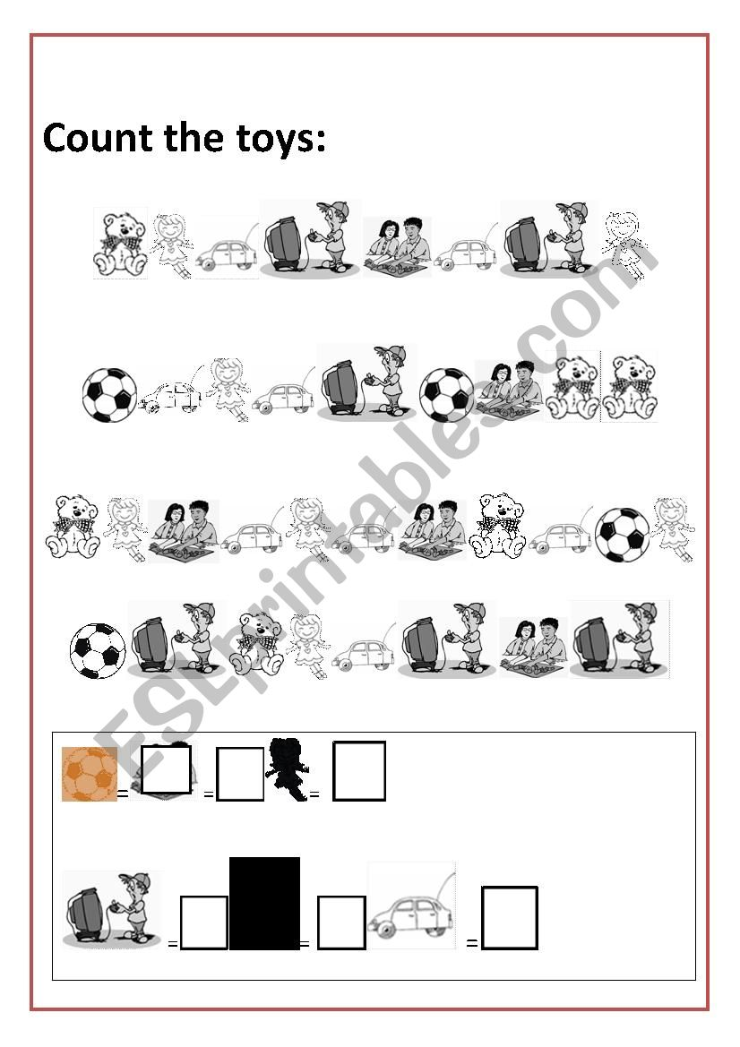 TOYS COUTING worksheet