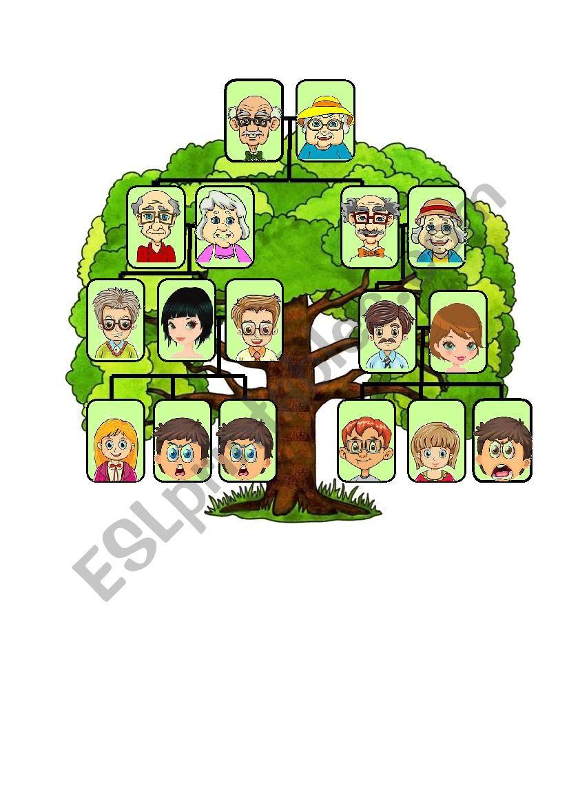 Family tree template esl worksheet by macomabi family tree template worksheet maxwellsz
