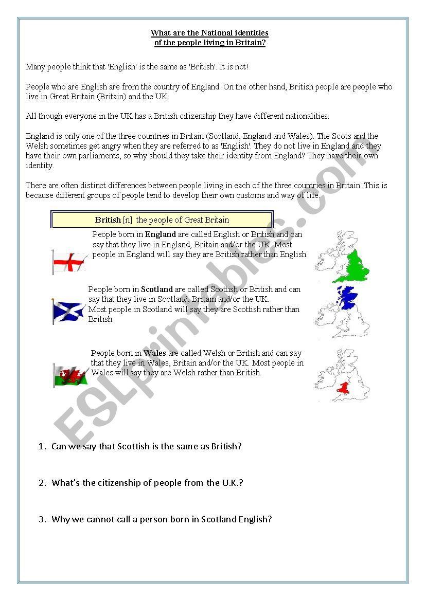 British, English, Scottish or Wesh?