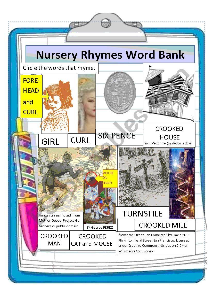 Nursery Rhymes for Pronunciation--Simple past