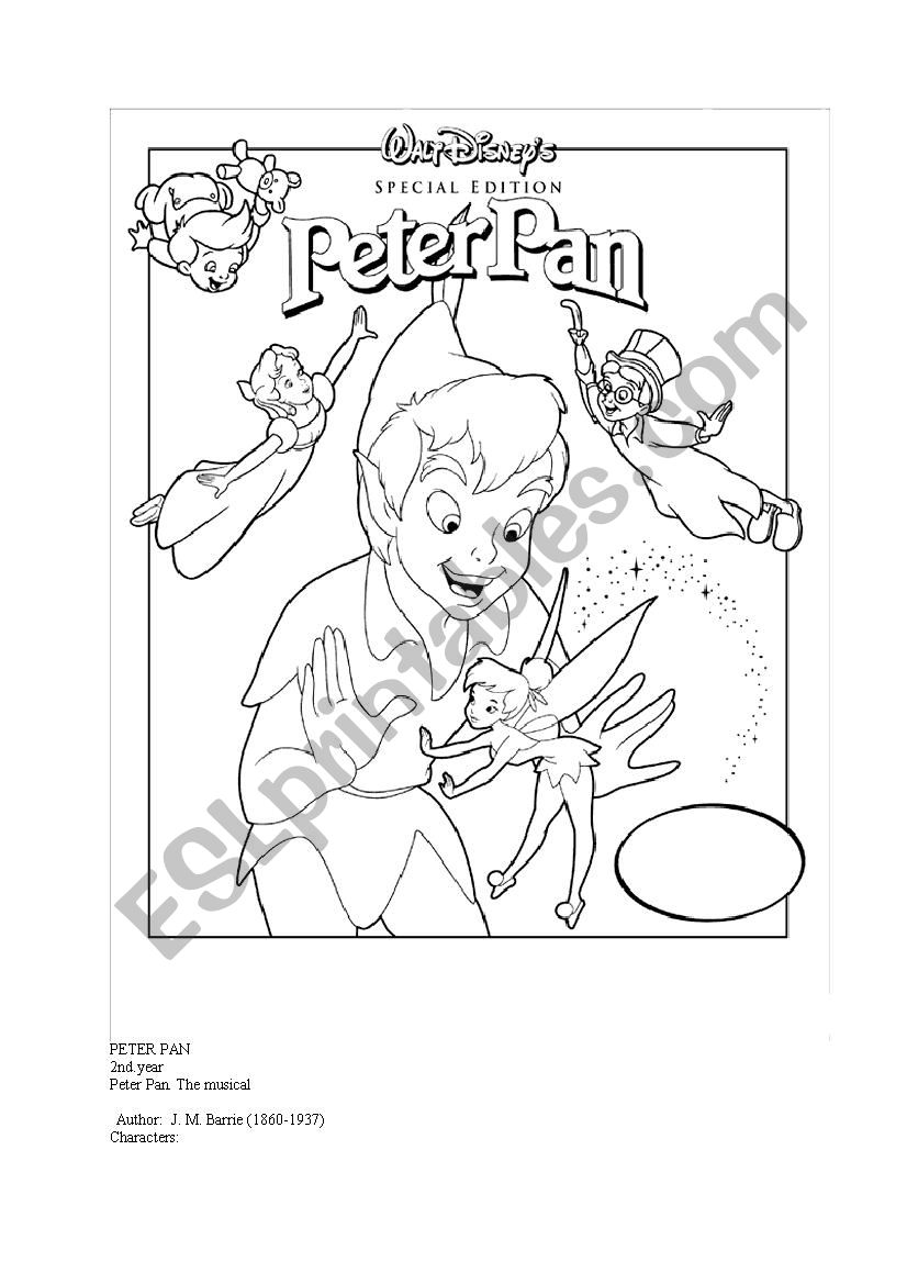 peter pan script worksheet