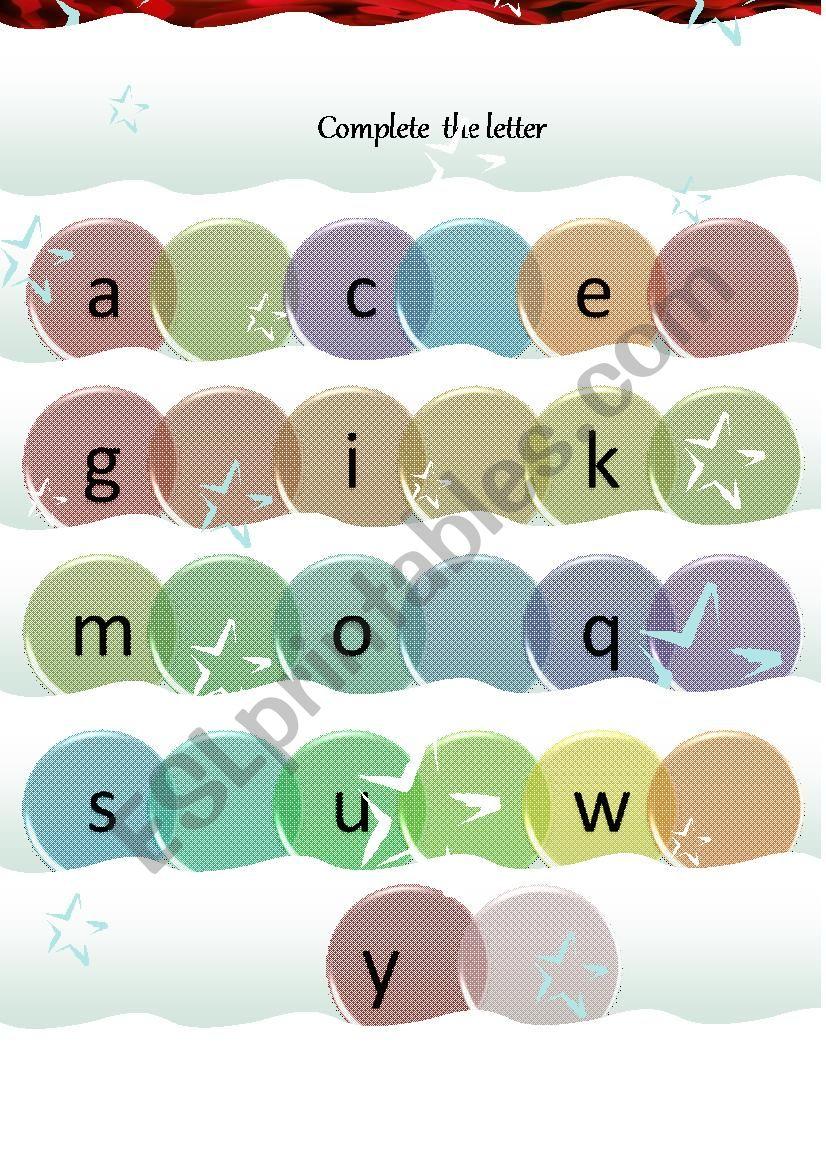 ABC Worksheet  for small kids worksheet