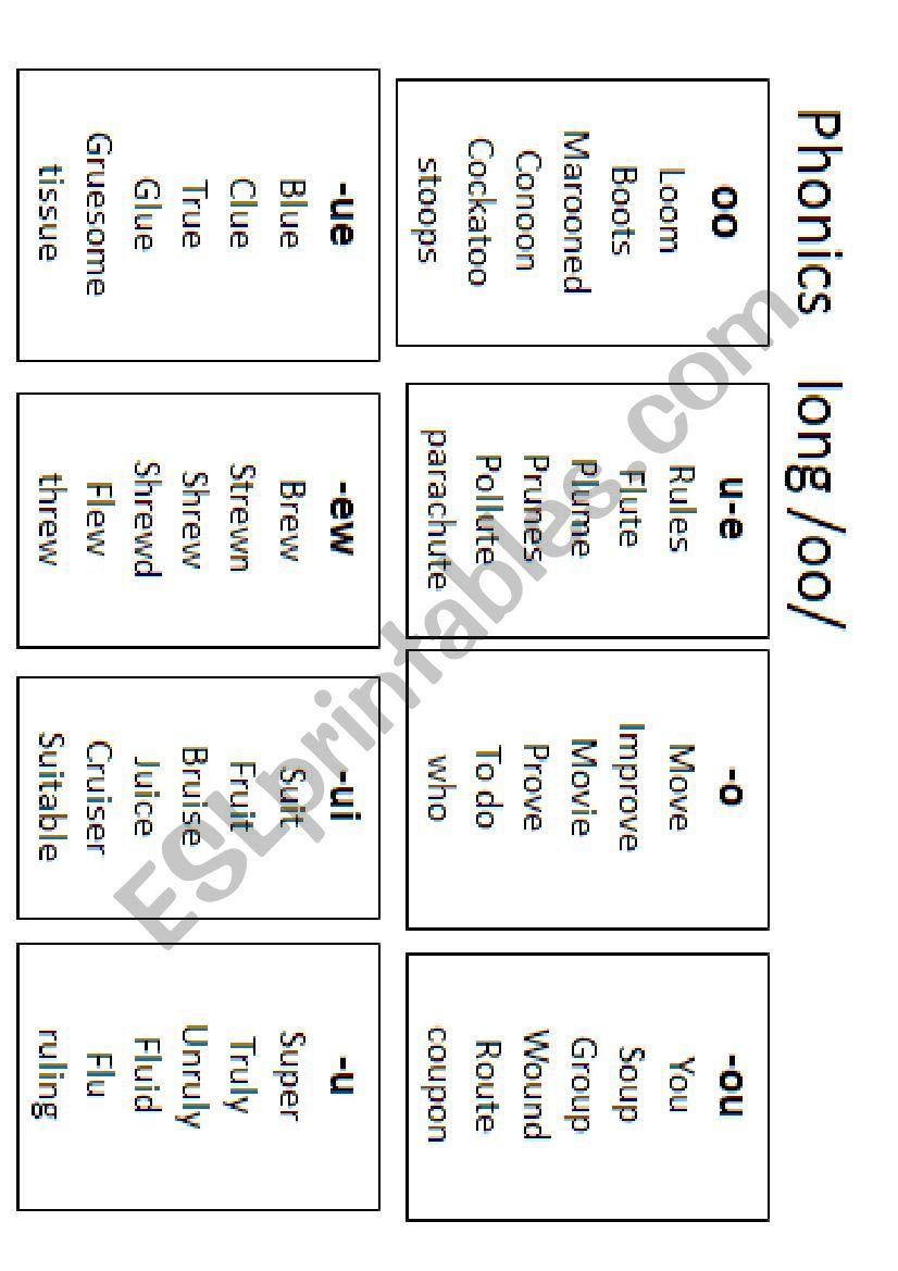 Long Oo Esl Worksheet By Melopez48