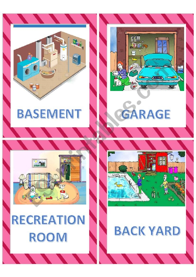 Areas/Rooms of the house flashcards