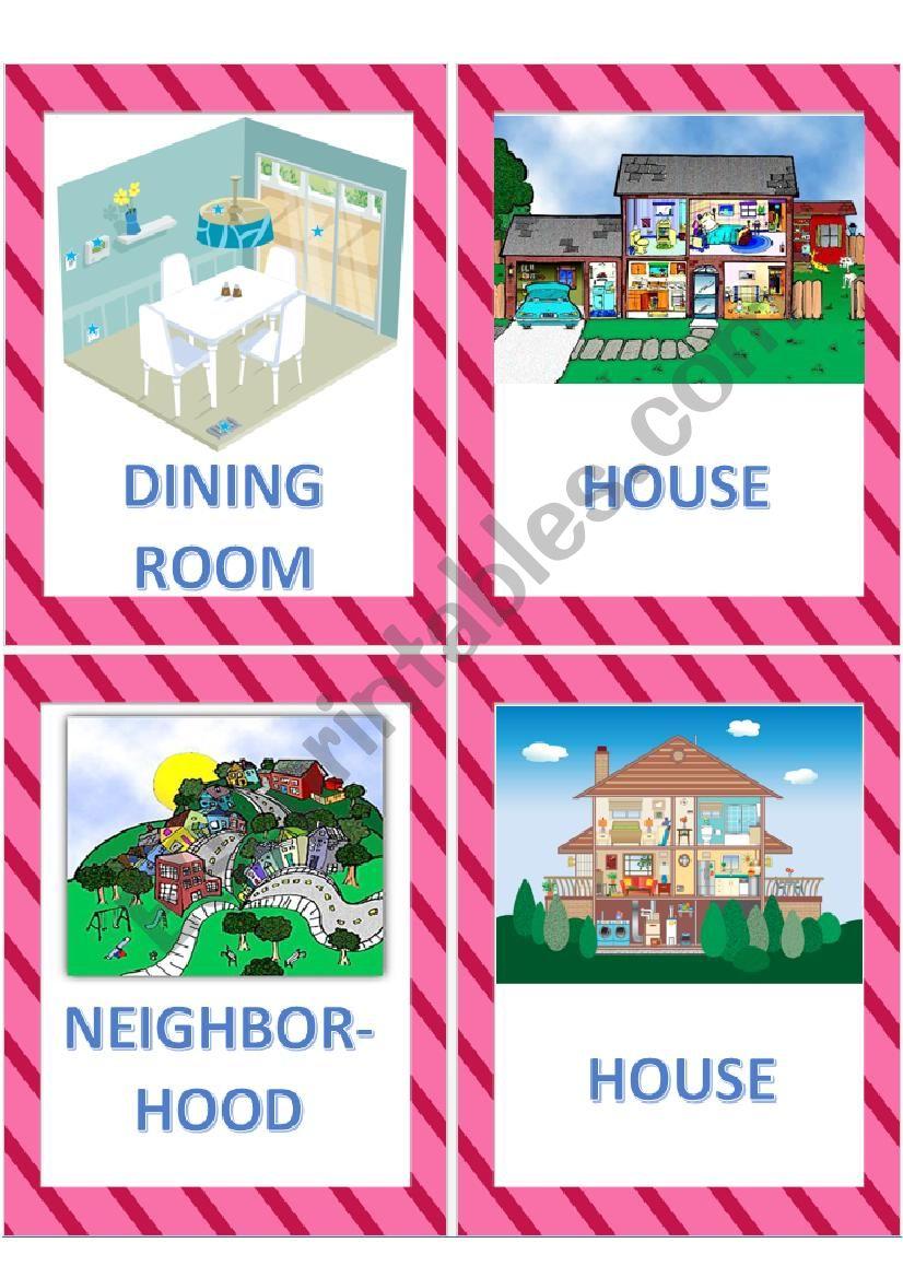 House cutaways Flashcards worksheet