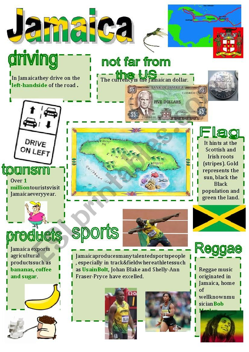 Jamaica facts 2 worksheet