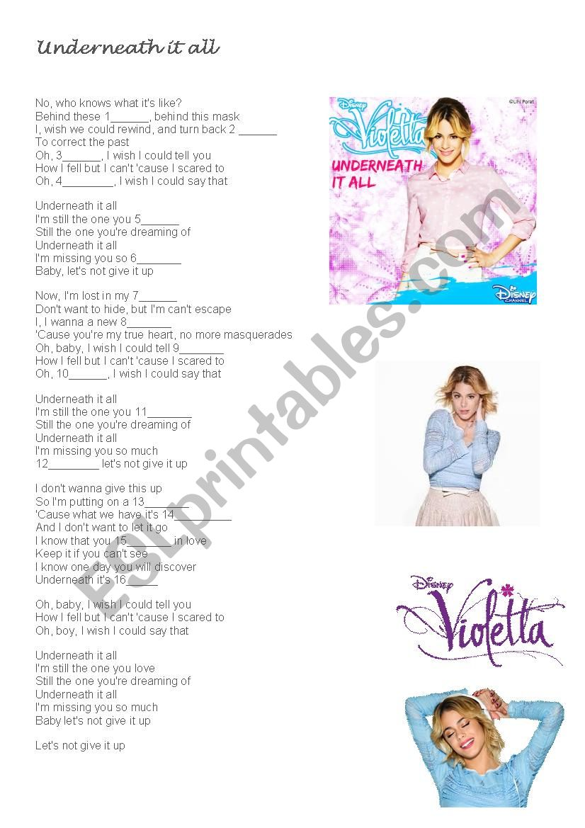 c487d6383 Violetta - Underneath it all - ESL worksheet by ihitz