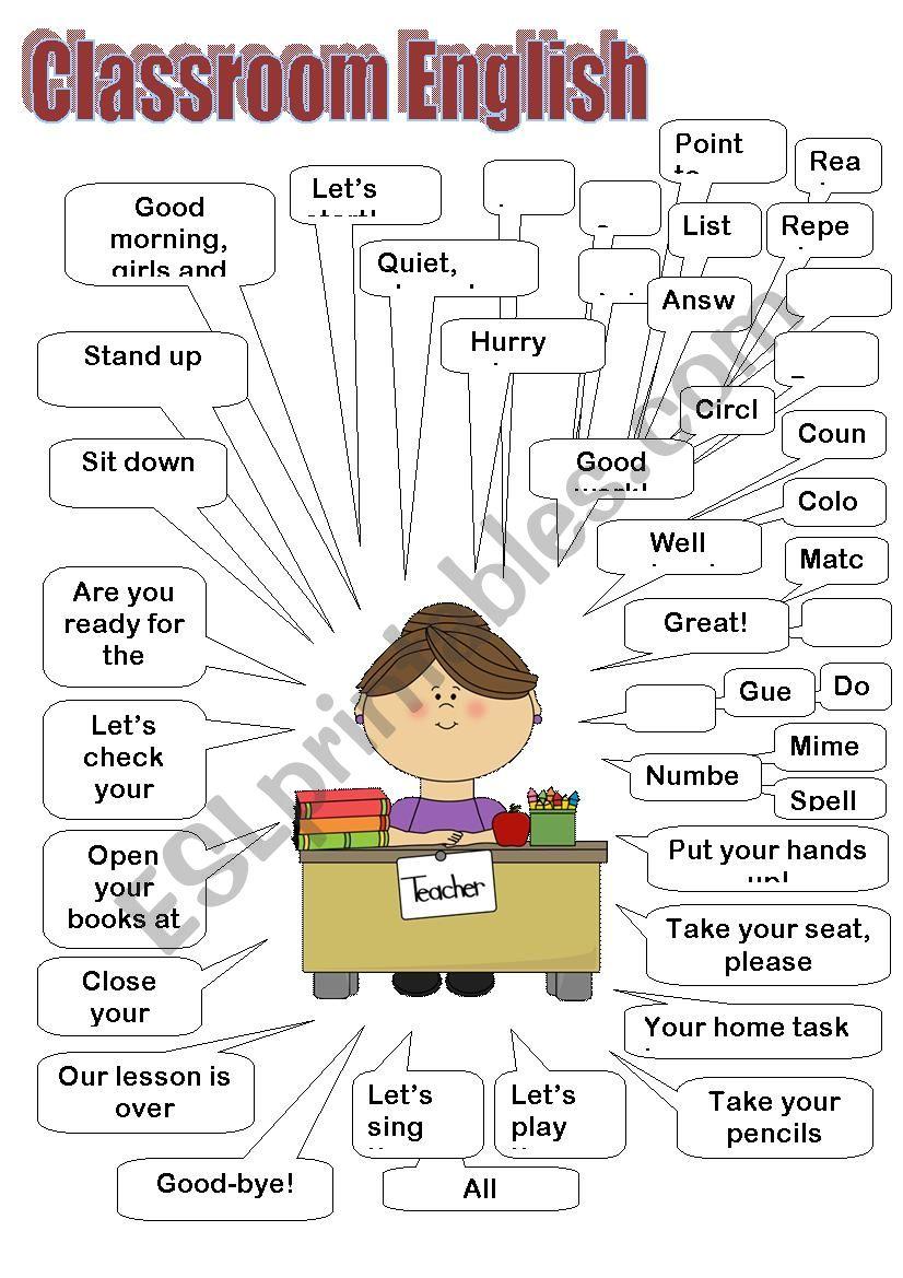 Classroom English (teacher) worksheet