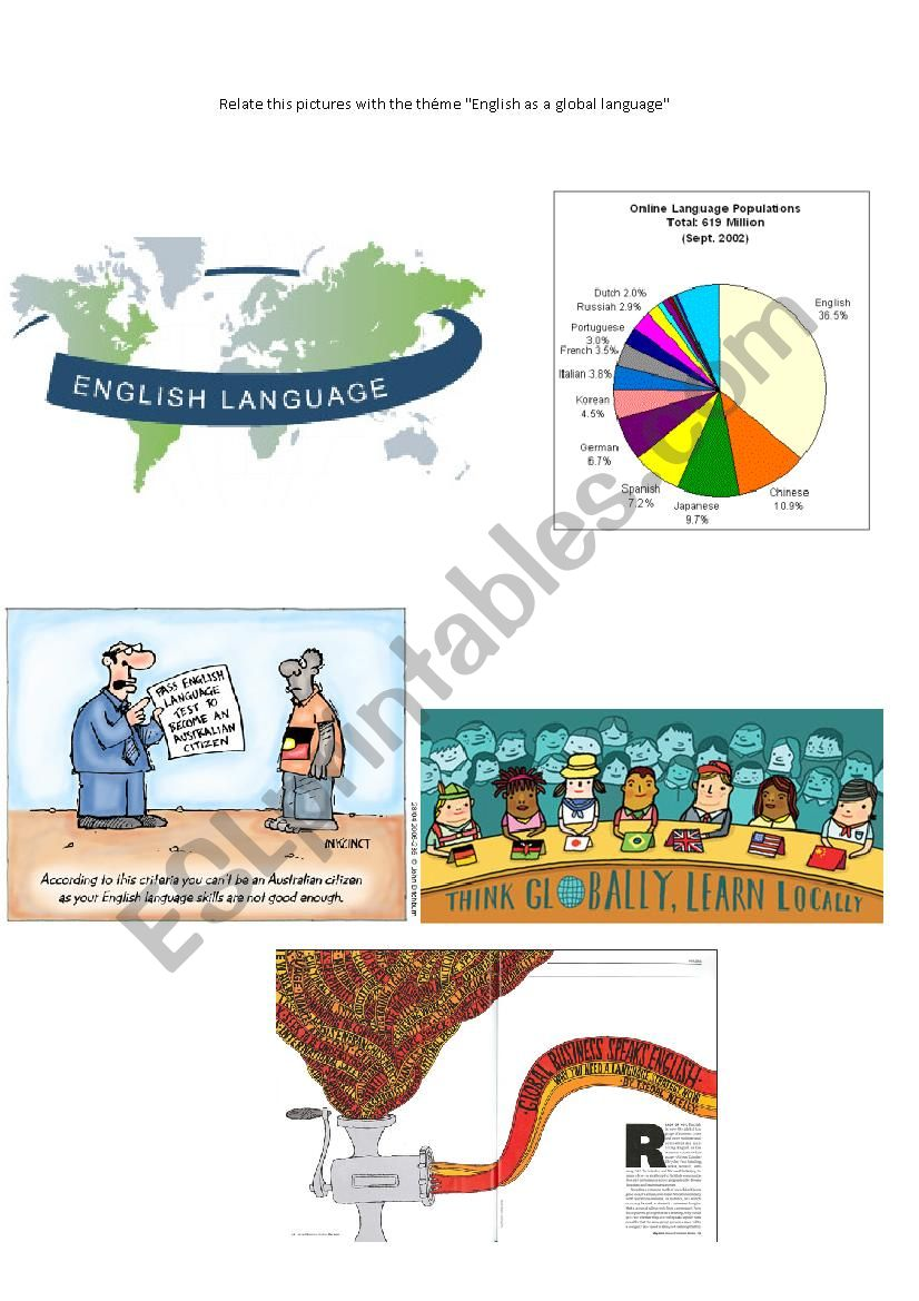 Global Language worksheet