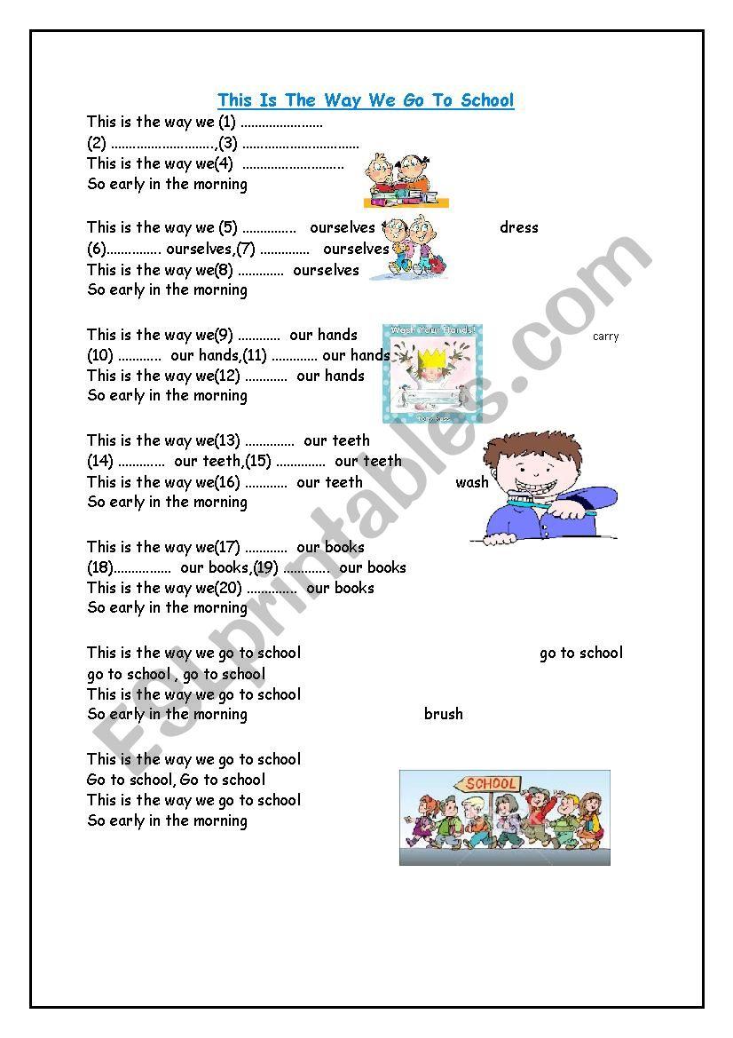 This is the way we go to school esl worksheet by juliachild see more worksheets by juliachild preview this is the way we go to school ibookread ePUb