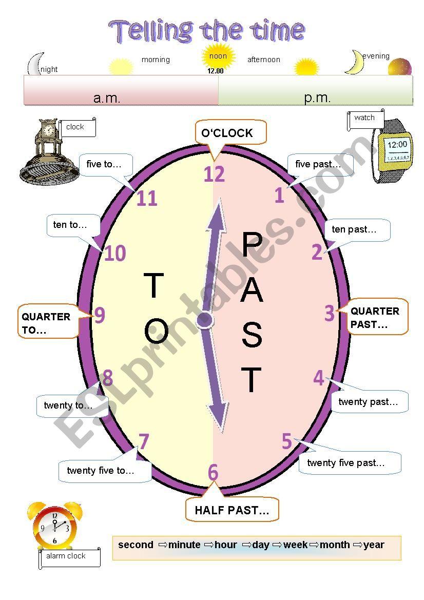 Clock - poster worksheet