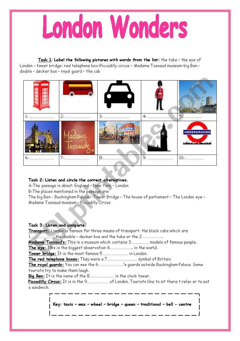 London Wonders (8th form Module 1 Lesson 5) Listening