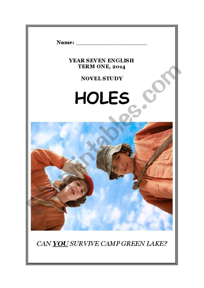 Holes Louis Sachar Study Guide Esl Worksheet By Janejaggers