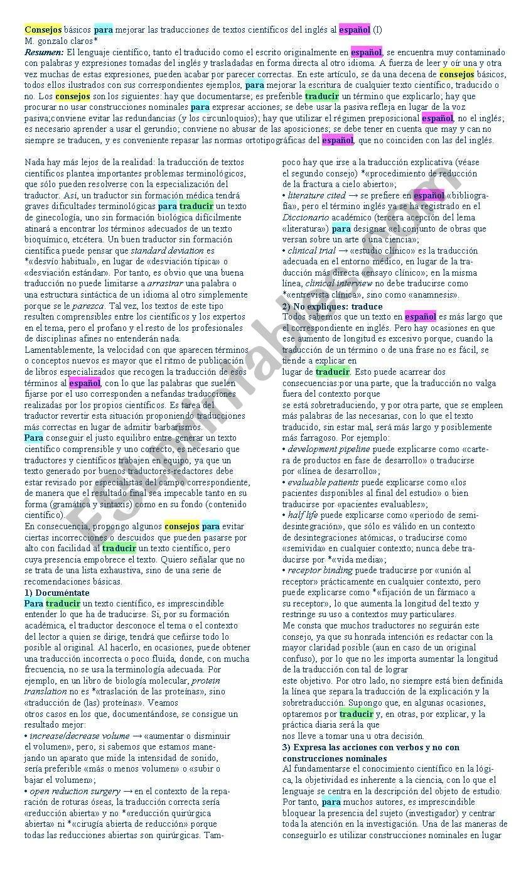 translation worksheet