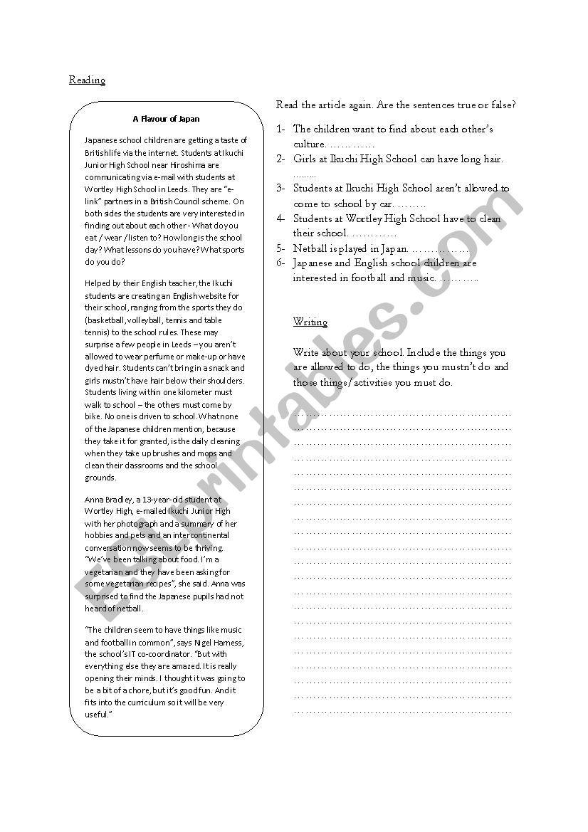 Movers final exam worksheet