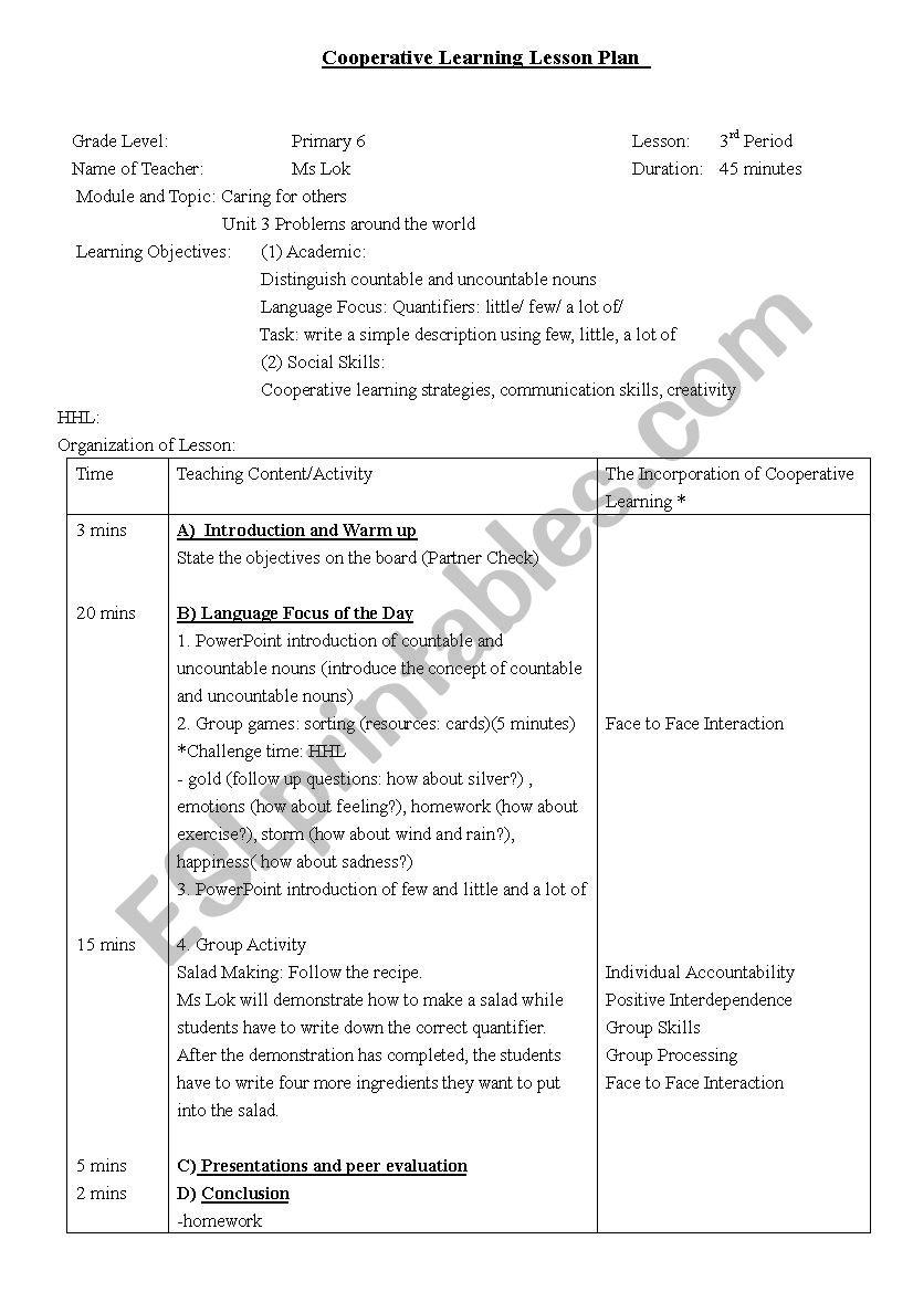 Quantifiers - ESL worksheet by mimilok128