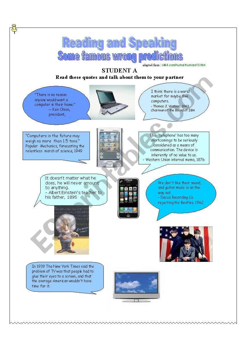 Wrong Predictions worksheet
