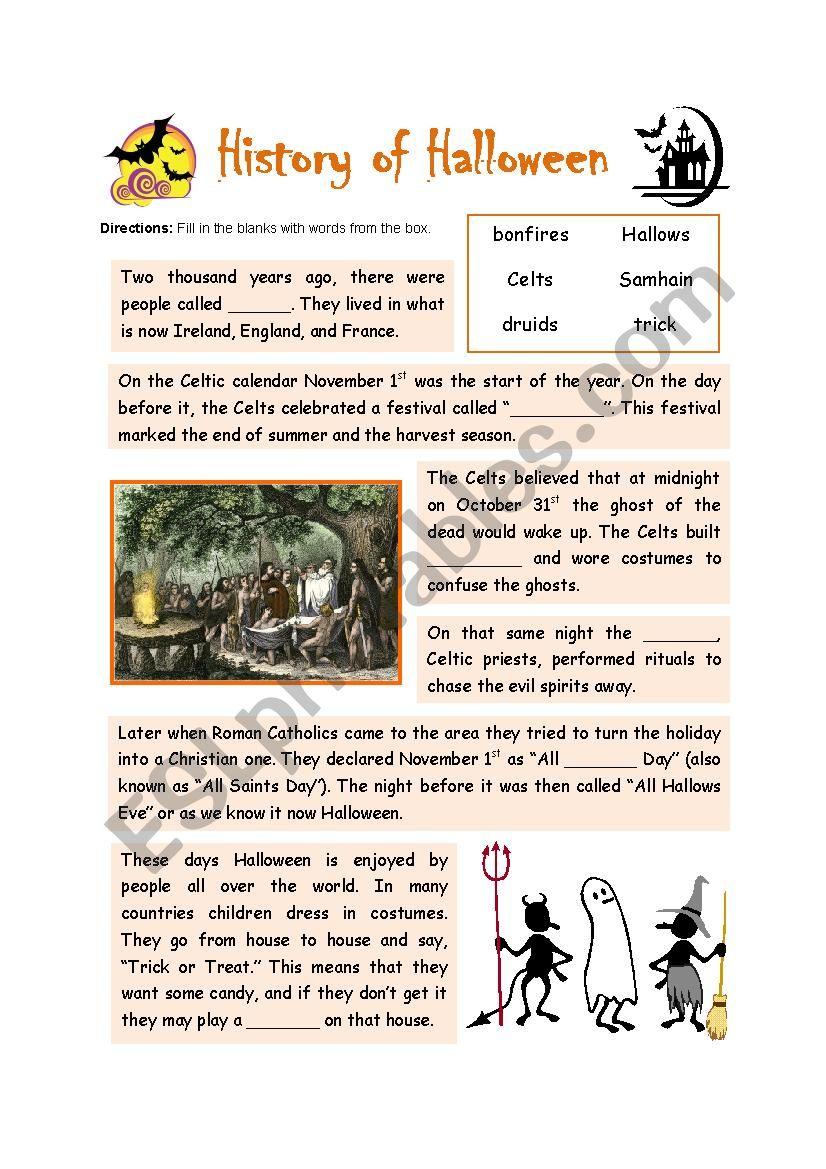 History of Halloween + KWL activity