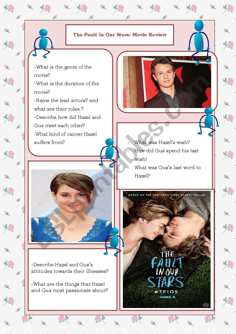 The fault in our stars worksheet