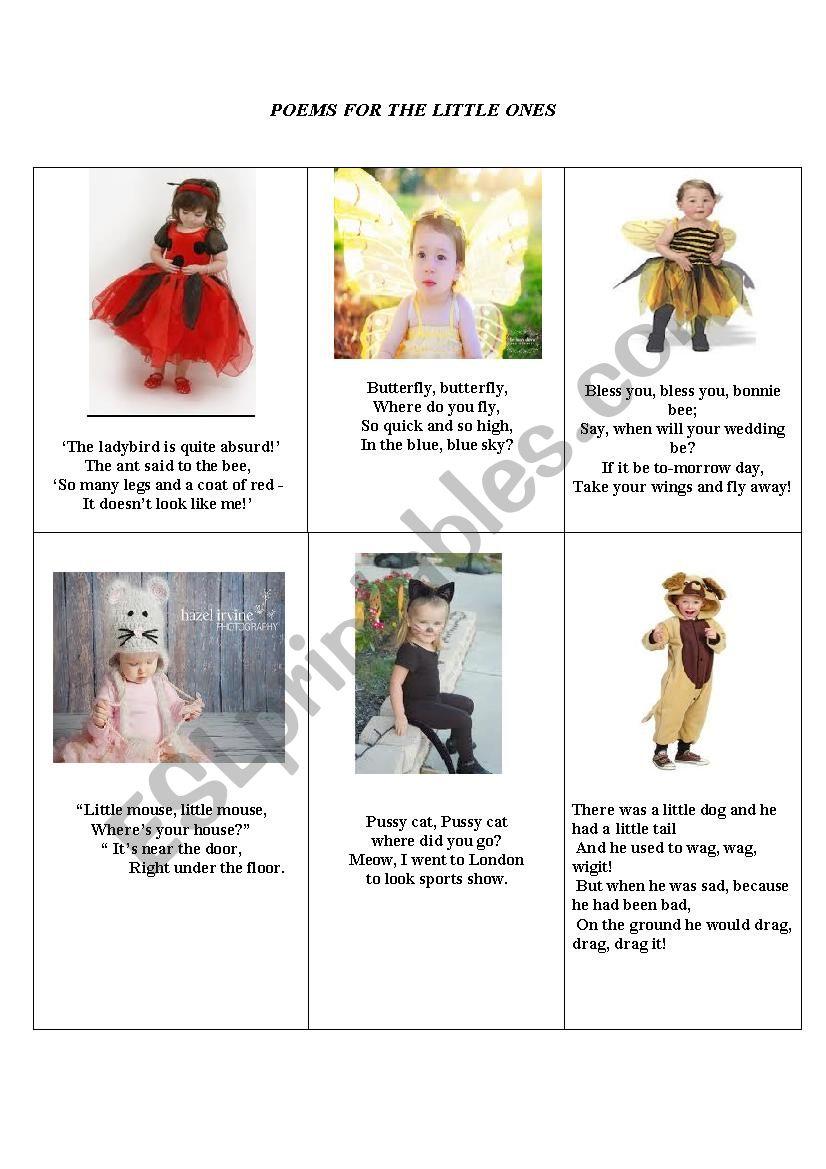 poems for the little ones worksheet