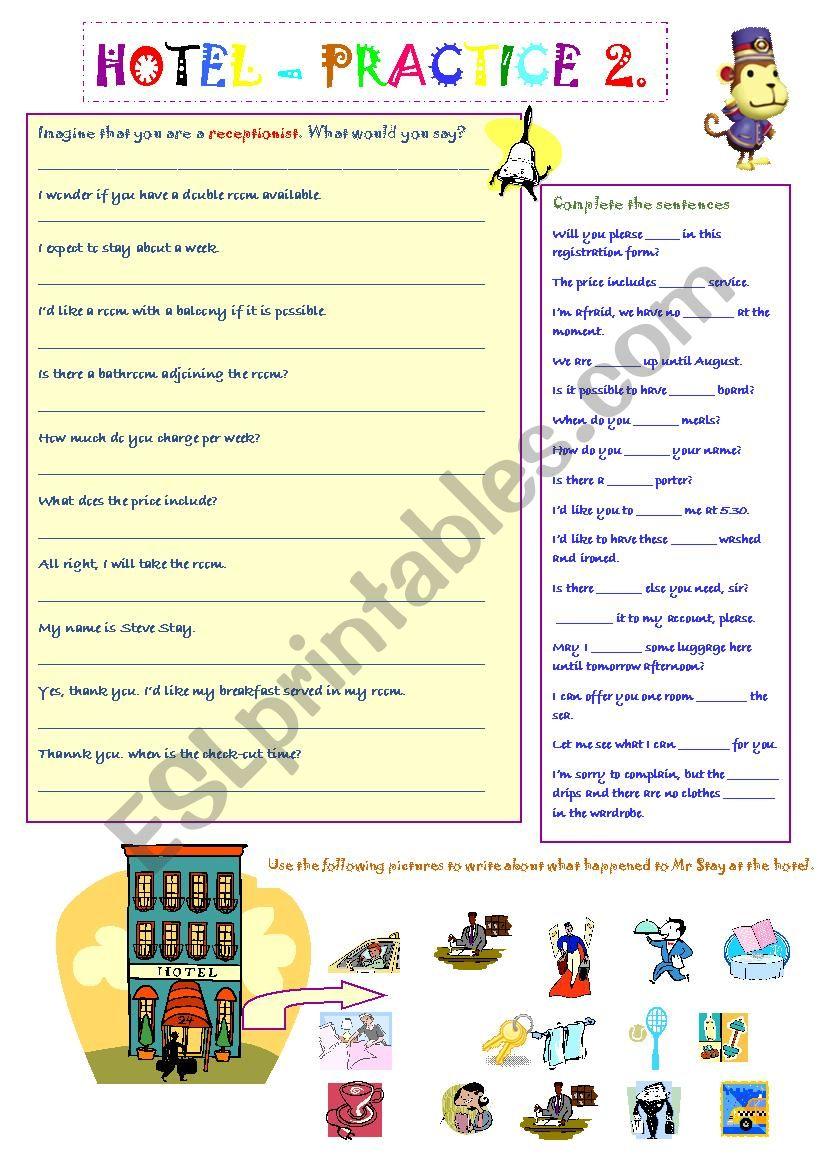 Hotel Practice 2 worksheet
