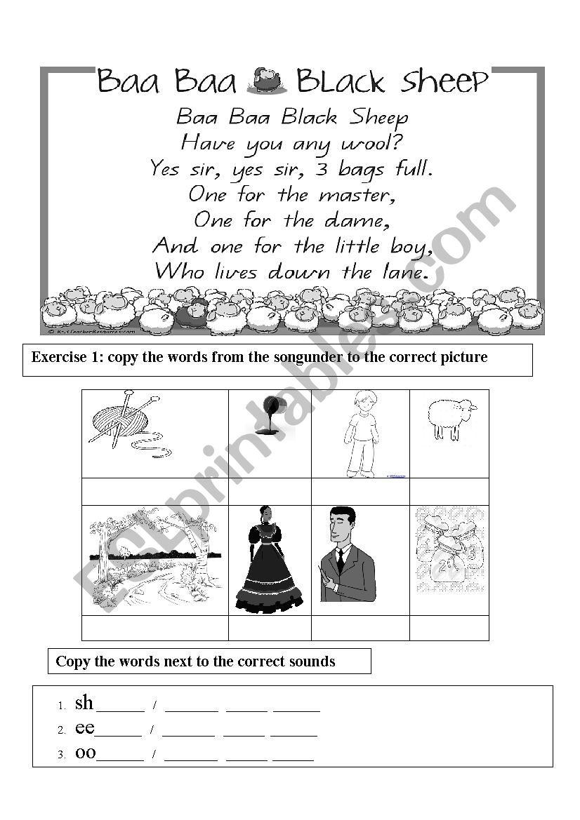Baa Baa Black Sheep - Nursery Rhyme -