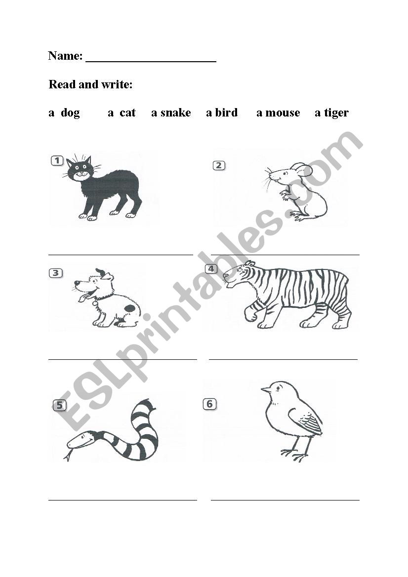 Happy House 1-animals worksheet