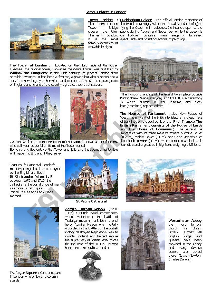 famous landmarks of london quiz esl worksheet by miss34. Black Bedroom Furniture Sets. Home Design Ideas