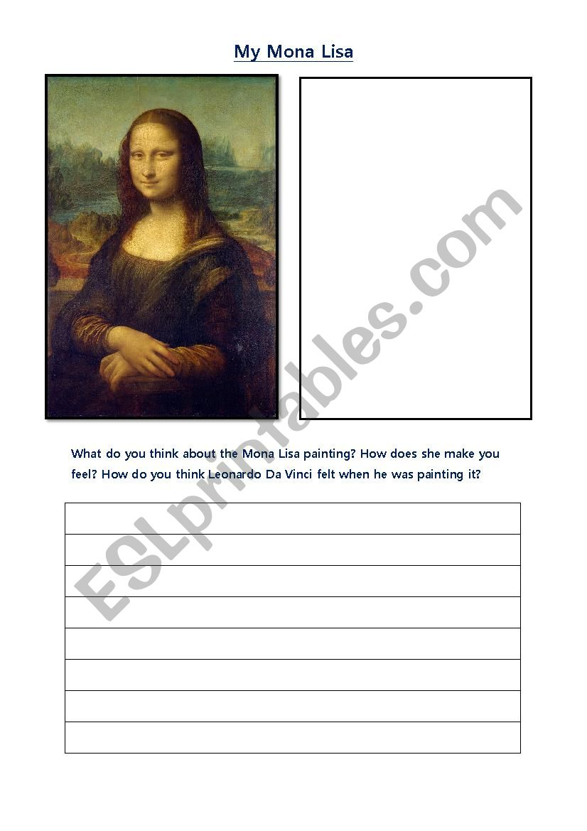 Mona Lisa - ESL worksheet by Nikkig1111