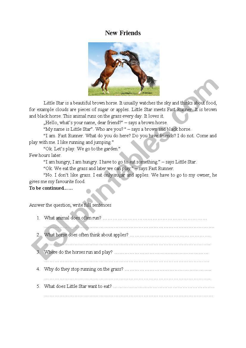 - Short Story With Questions - ESL Worksheet By Szwedama