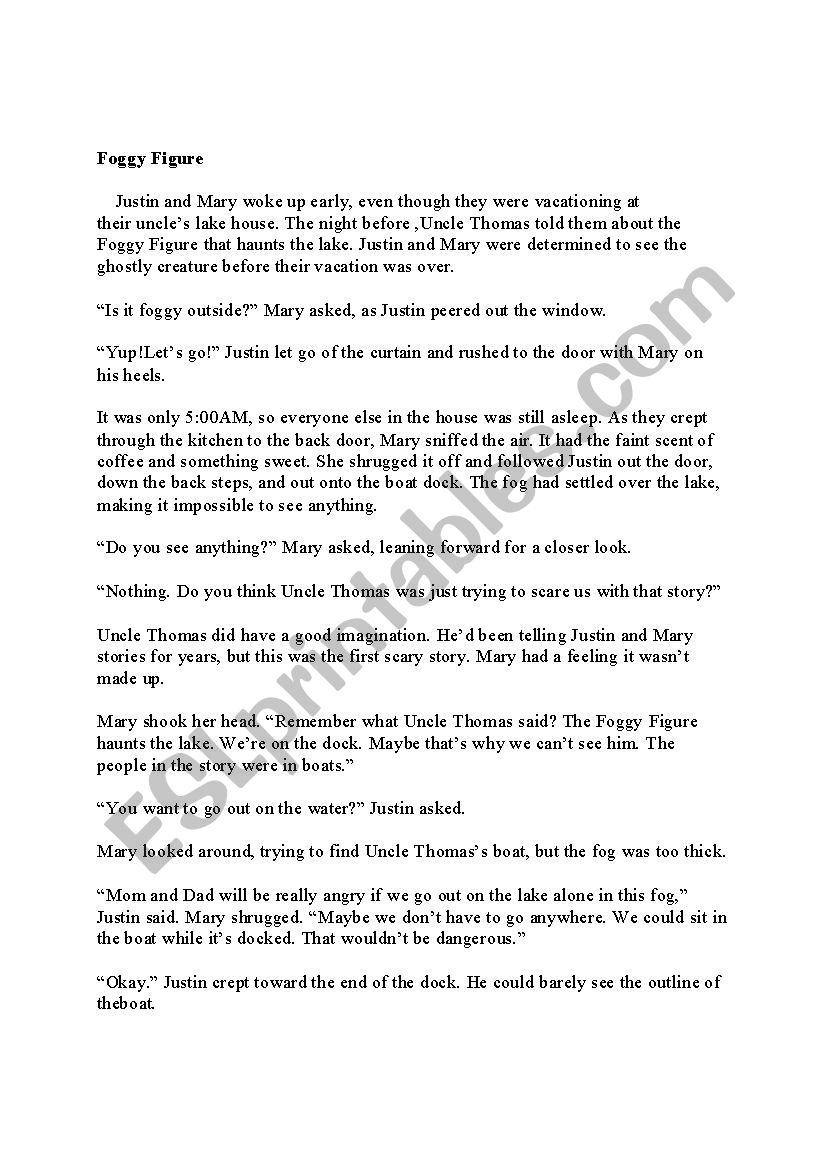foggy figure - ESL worksheet by visha piecandle