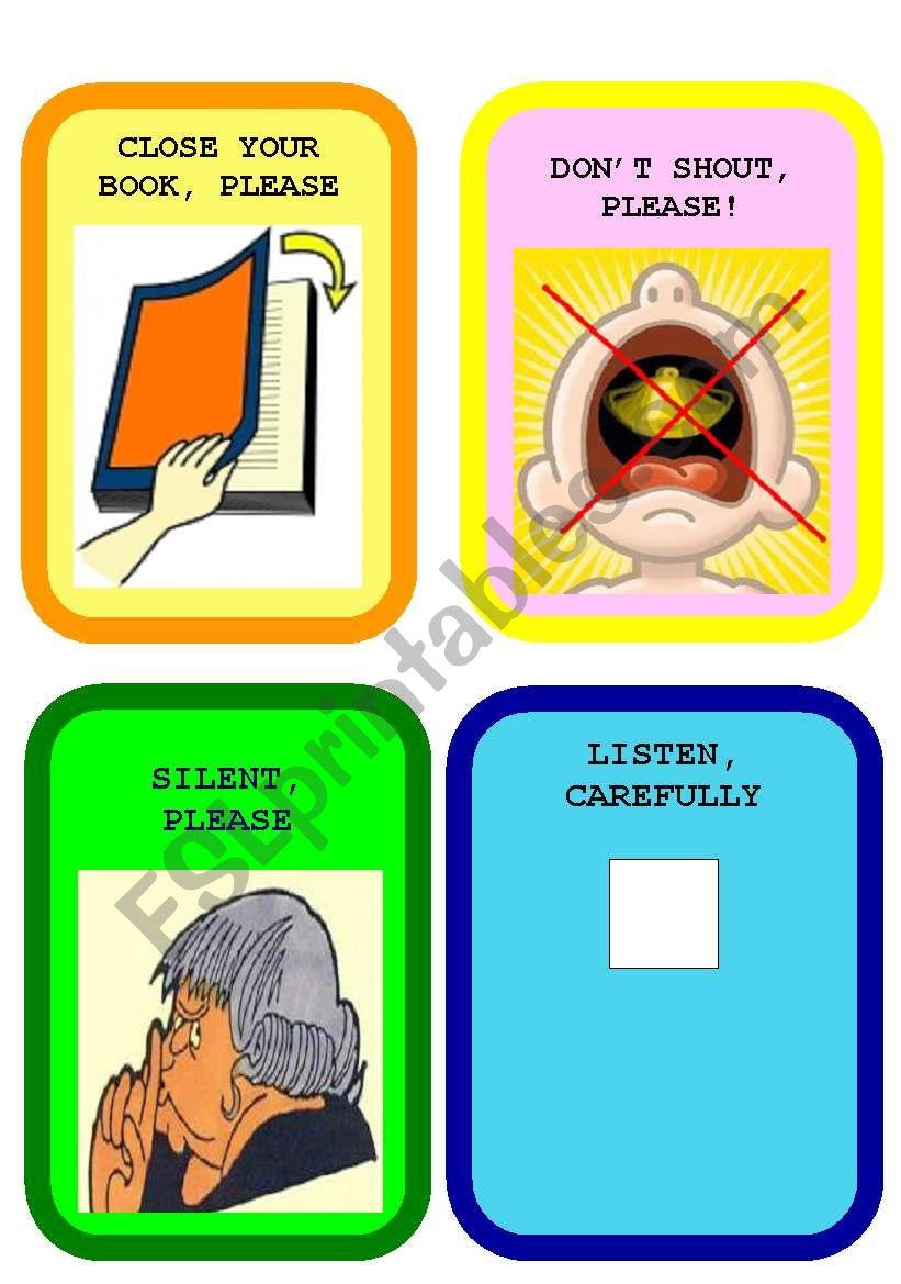 CLASSROOM LANGUAGE FLASHCARDS SET 2
