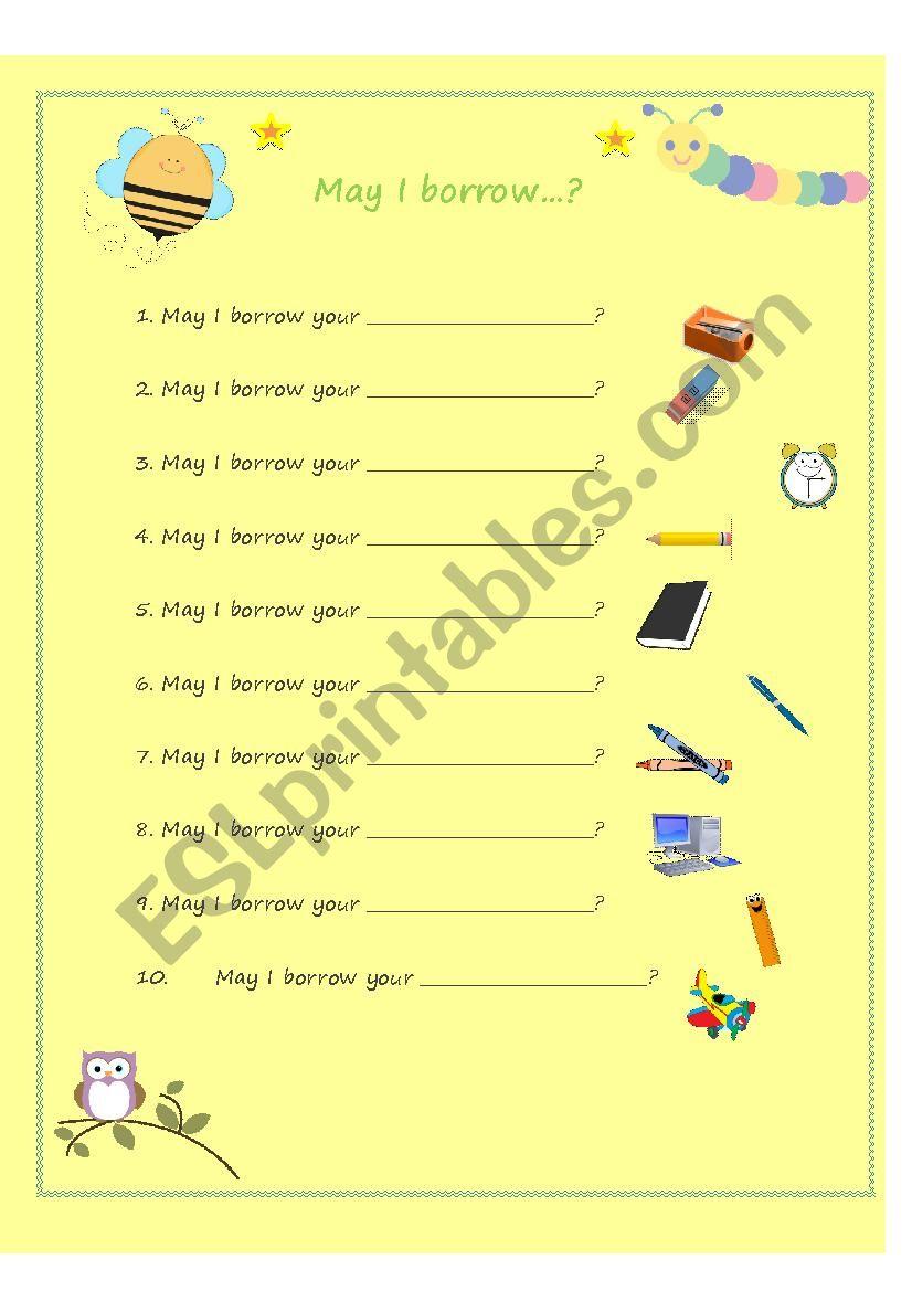 May I borrow worksheet