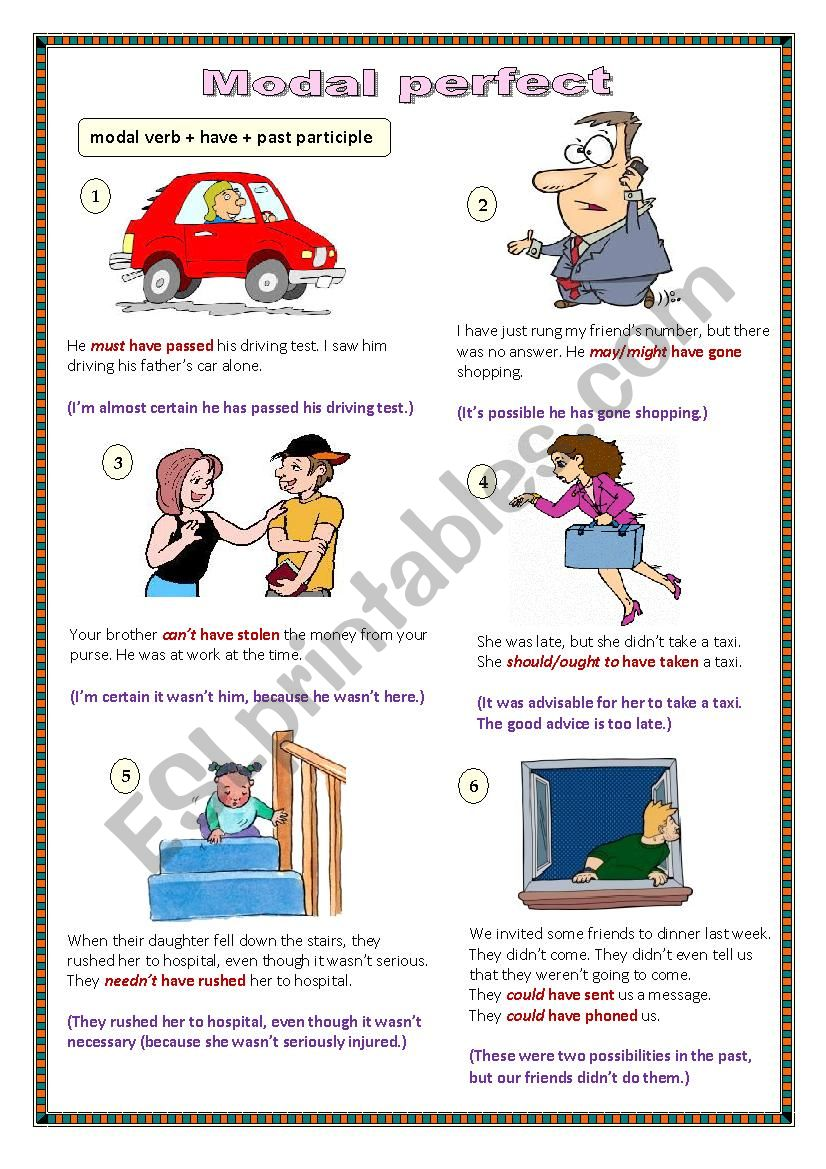 Modal Perfect worksheet