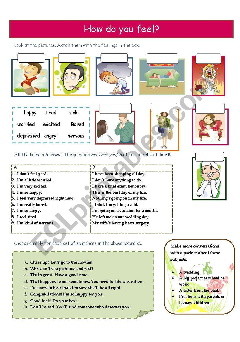How do you feel? worksheet
