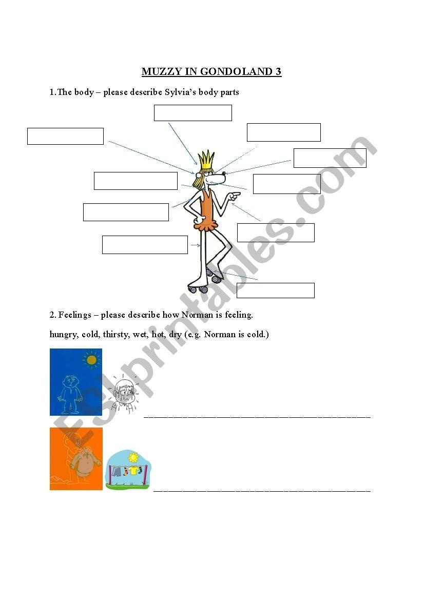 Muzzy in Gondoland 2 worksheet