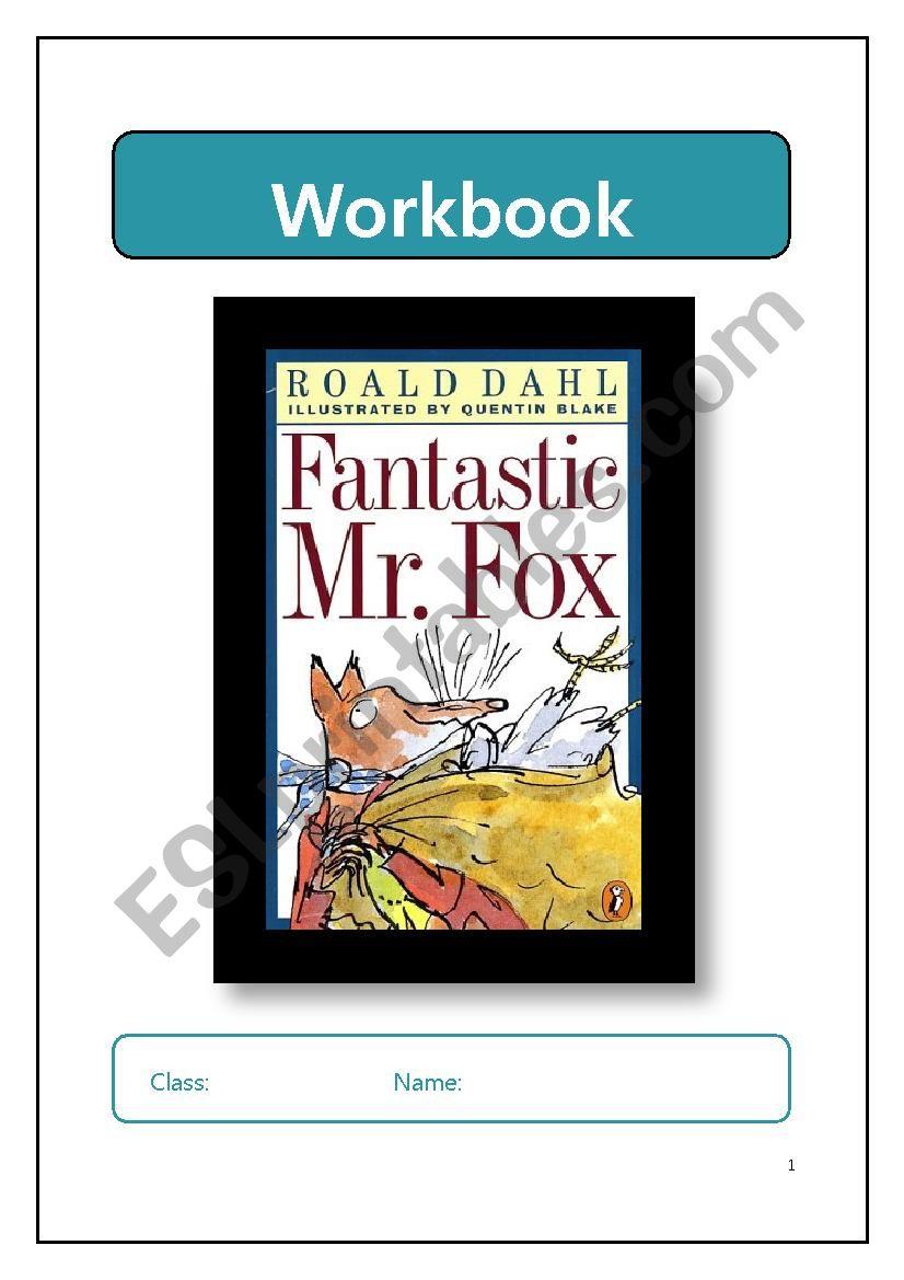 Fantastic Mr. Fox workbook  worksheet